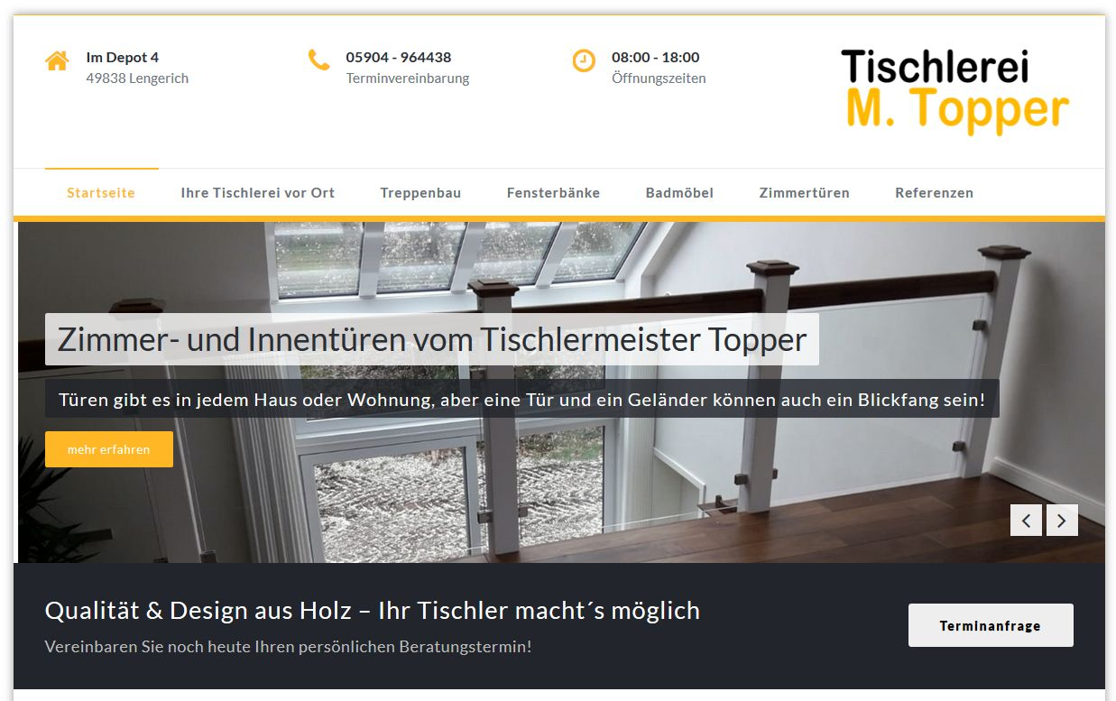 www.tischlerei-topper.de Tischlerei Topper Lengerich